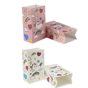 Image 5 - Unicorn המפלגה נייר פופקורן קופסות אריזת מתנה סוכריות עוגיות שקיות יום הולדת ילדי שקיות מתנה לטובת תינוק מקלחת אספקת