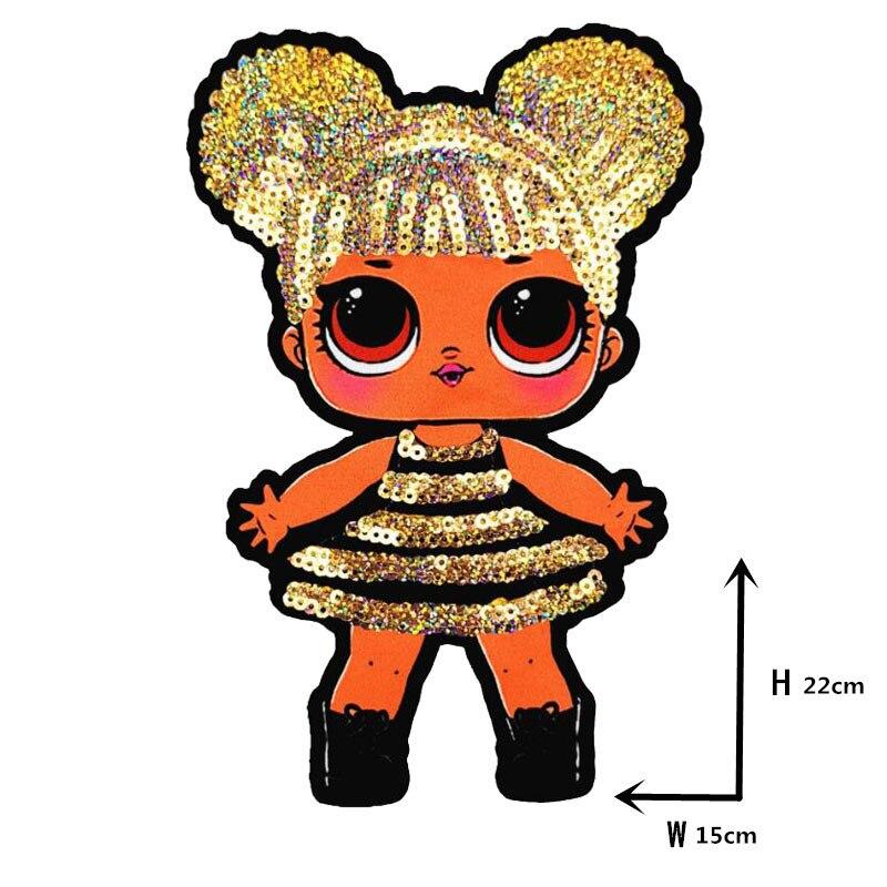 Мультяшные нашивки женские модные куклы лол для девочек Милая Модная Кукла-мальчик вышивка на одежду ручная работа украшение одежды Блестки Ткань - Цвет: WW-20