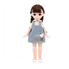 New 30cm Dress-up Bjd Doll 3D Eyes 13 Articulated Movable 1/6 Fat Princess Dress Set Fashion DIY Girl Toy Doll Christmas Gift