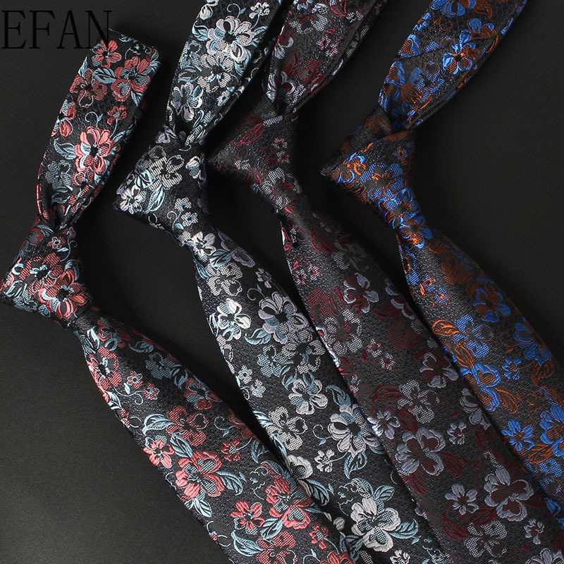Narrow Casual Trend Men's Ties 6cm High Quality 1200 Needle Jacquard Woven Paisley Flower Necktie Factory Wholesale Customize