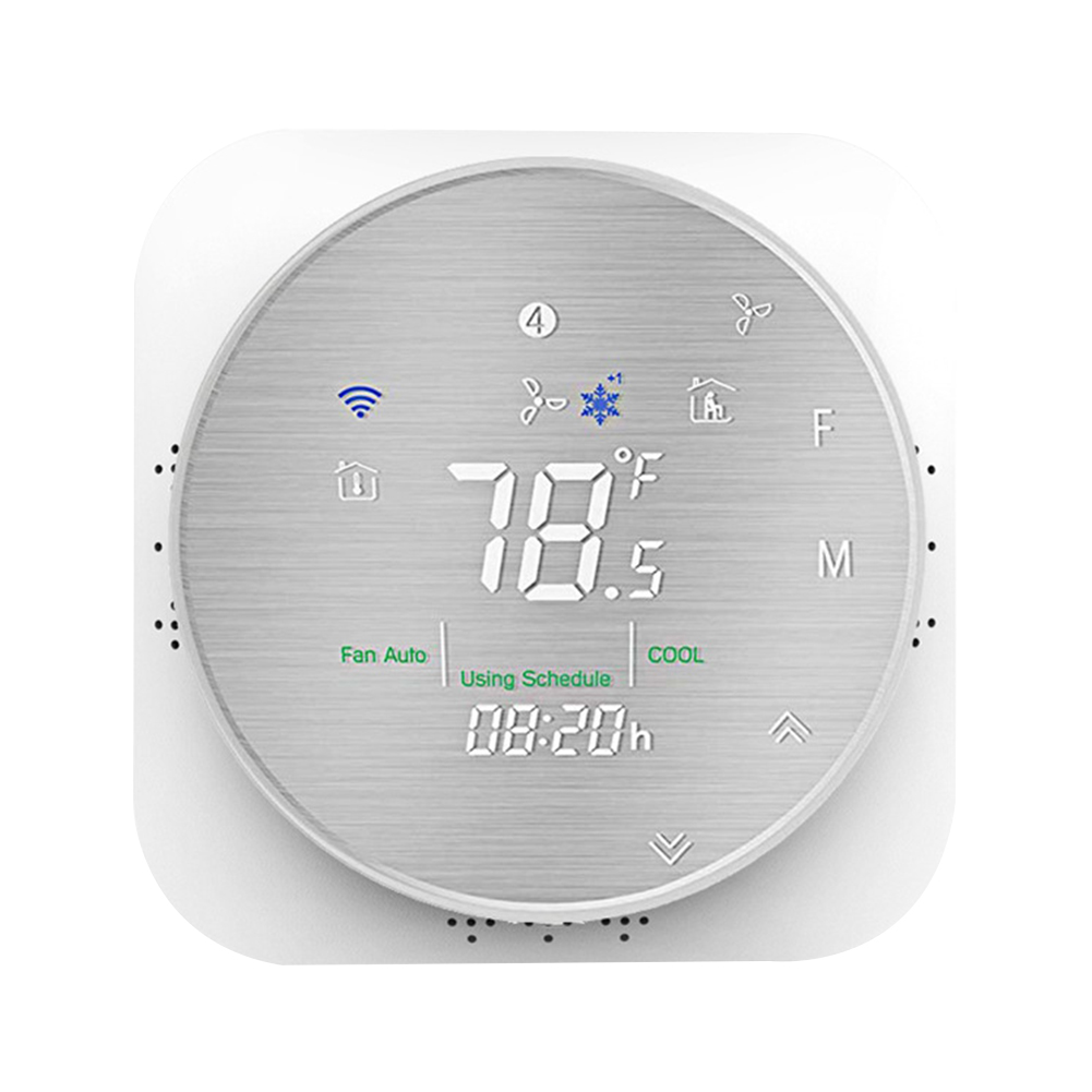Hotel Flame Retardant Voice WIFI Smart Thermostat Temperature Control Remote Heat Pump Office Programmable Mobile Phone Home