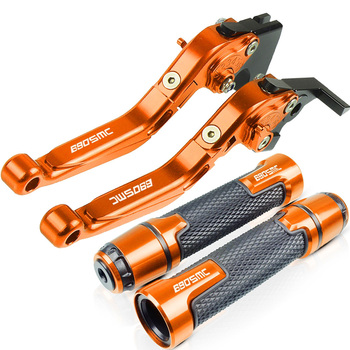 Motorcycle Accessories For KTM 690 SMC 690SMC 2008 2009 2010 Extendable Brake Clutch Levers and Handlebar Hand Grips