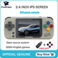 powkiddy Q70 open system Video Game Console Retro Handheld, 2.4inch screen portable children game players with 16GB memory card