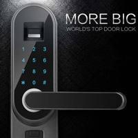 Fingerprint passwort smart lock Englisch version zu die äußere box mit eine tasche Fingerprint PUSH PULL Digitale Türschloss Mit WIFI-in Elektroschloss aus Sicherheit und Schutz bei
