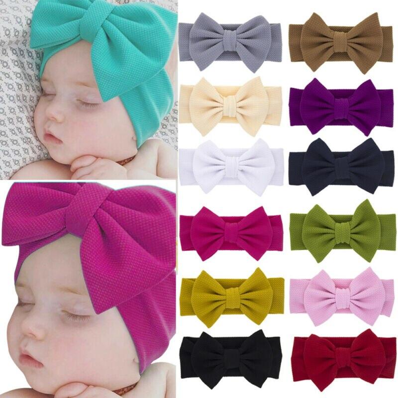 3pcs Baby Kids Newborn Infant Hair Band Princess Big Bow Turbon Knot Headband