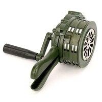 Hand Crank Siren Horn 110dB Manual Operated Metal Alarm Air Raid Emergency Safety LHB99