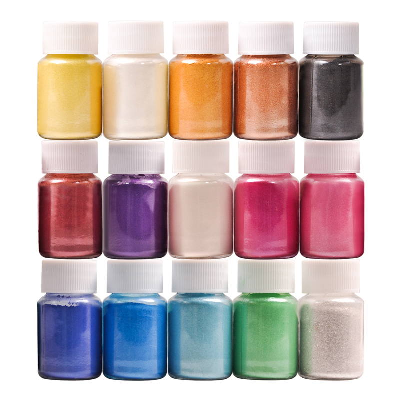 32 Colors For Soap Making/Soap Dyes/Nail Art/Eyeshadow DIY Mica Powder Pigment Supply Kit Powder Resin In Bottle Organized