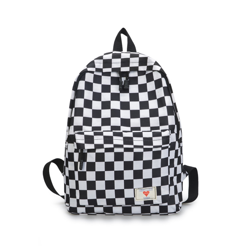 New 2019 Plaid Nylon Female Travel Daypack Laptop Backpack Book Schoolbags Feminine School Patchwork Rucksack Women Bag Rugzak