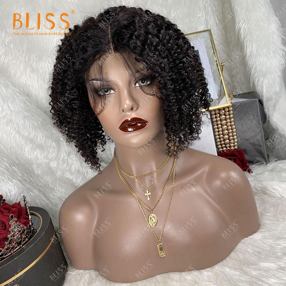 BLISS 100% Brazilian 4X4Lace Closure Front Human Hair Wigs Deep Natural Full Lace Wig Remy perruque de fermeture en dentelle