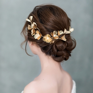 Image 5 - מדהים זהב ריינסטון חתונה סיכות רך כלה Hairbands חתונה אקססורי לשיער לנשף כיסוי ראש