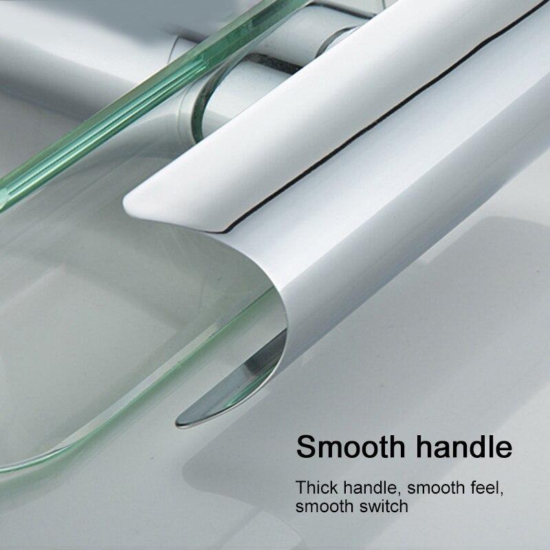 H7a6cff589369493cb65850423cbb4c441 Basin Faucets Waterfall Faucet For Bathroom Basin Mixer Tap Single Handle Sink Mixer Tap Deck Mounted Bathroom Torneiras