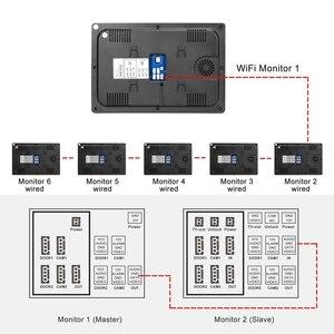 Image 4 - Проводной видеодомофон Homefong, монитор с 10 дюймовым сенсорным экраном, поддержкой AHD, дверной звонок, уличная камера с подключением, записью обнаружения движения