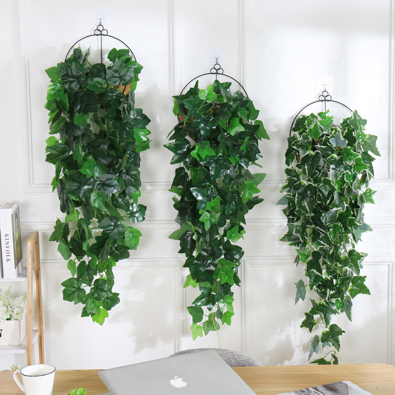 100cm Artificial Plants Hanging Vines Wedding Garden Decoration Fake Plant Decor For Wall Green Leaves Vines Decorating