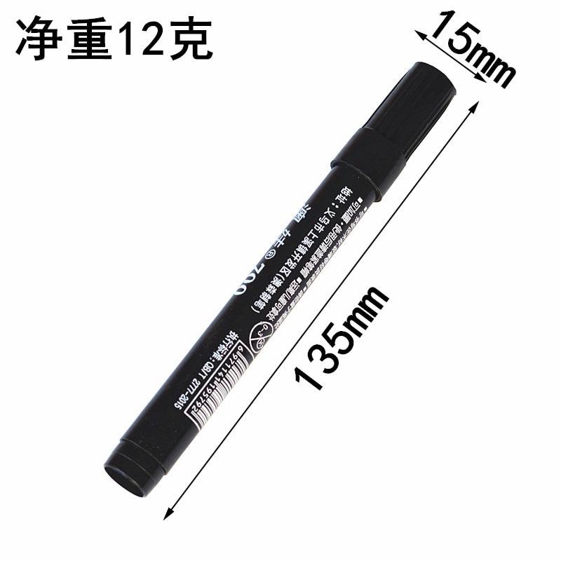 5 шт. маркер с перманентной краской ручка жирной Водонепроницаемый черная ручка для шин мотоцикла маркеры быстрое высыхание Канцелярия: ручка с подписью расходные материалы 4