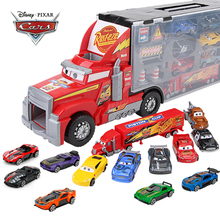 14Pcs/set Disney Pixar Cars 3 Mack Uncle Truck Toy Car Set Lightning McQueen Jackson Storm 1:55 Diecast Car Model Toy Kids Gift