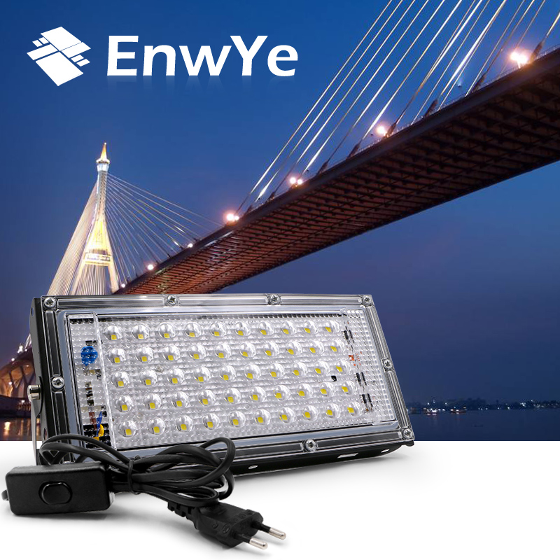 EnwYe 40W 50W 220V 240V Perfect Powe LED Floodlight LED Street Lamp Waterproof Landscape Lighting IP65 Led Spotlight