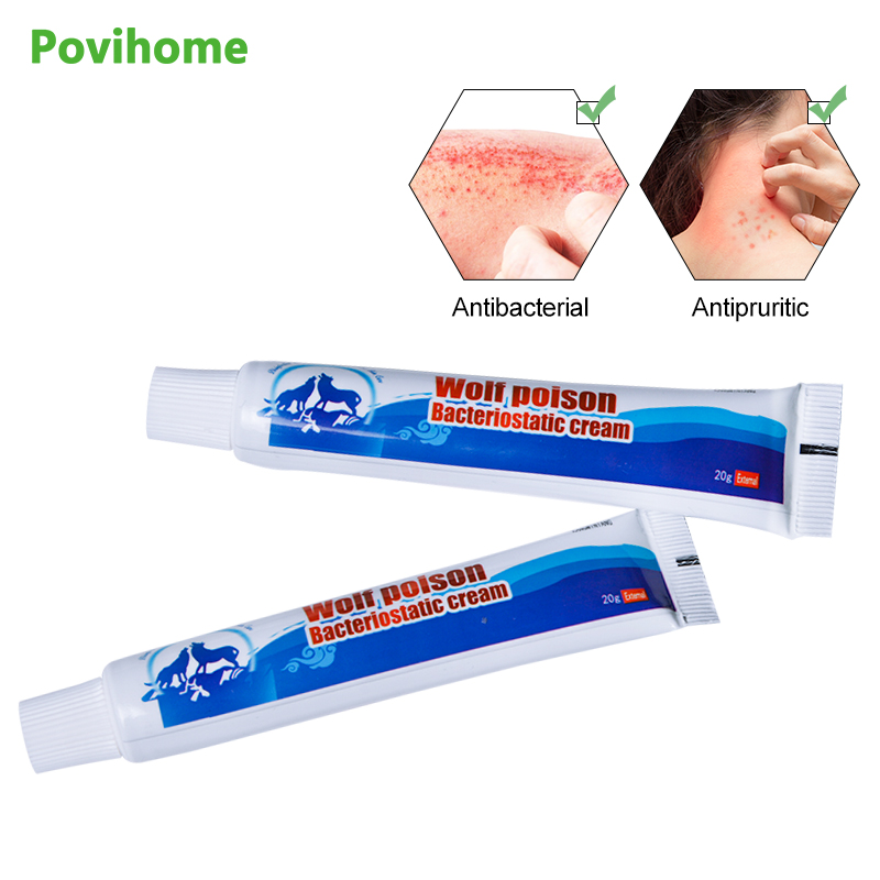 1pcs Chinese Herbal Antibacterial Cream Psoriasis Dermatitis Eczematoid Itching Allergies Pain Relief Health Care P1079