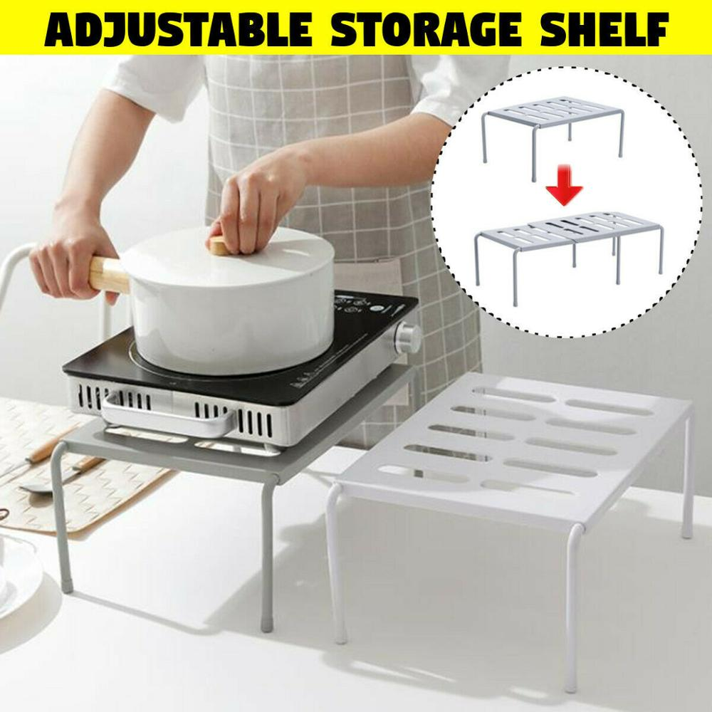 RASABOX - Home Cabinet Accessories, Adjustable Kitchen Storage Cabinet Shelf Organizer, Kitchen Organization Counter Table Shelf
