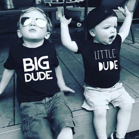 T-Shirt Outfits Matching Sister Little-Dude Baby-Boys Summer Top Kid And Family