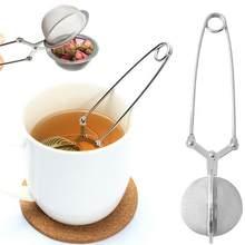 Hilife Edelstahl Tee-ei Kugel Mesh Tee Herb Spice Filter Kaffee Diffusor Griff Ball Sieb Tee Runde Y7D9