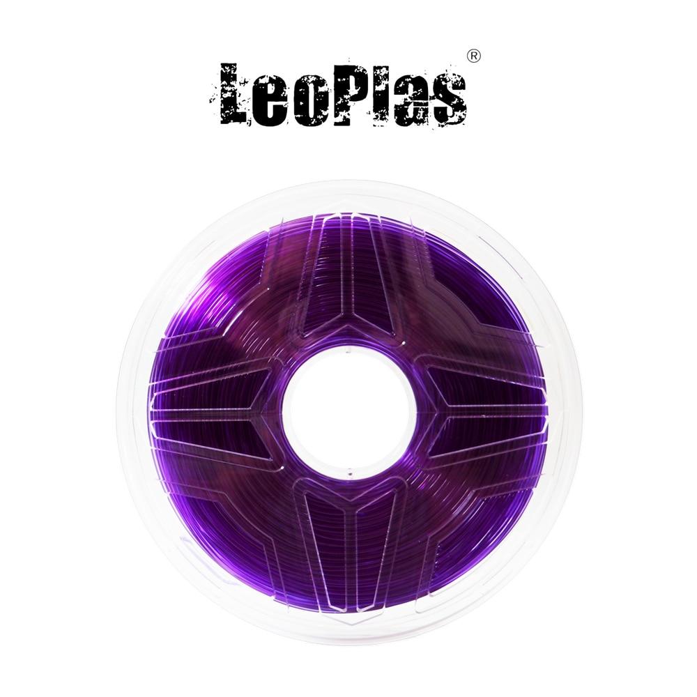 Liquidation vente aux etats-unis espagne entrepôt 1.75mm 1kg translucide violet PETG Filament 3D imprimante fournitures en plastique matériel d'impression
