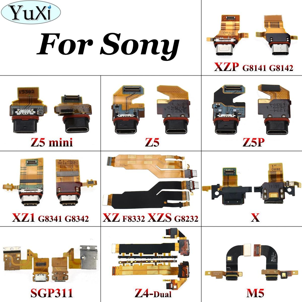YuXi Charger Dock Socket Plug Module Flex Cable For Sony Xperia M5 Z4 Z5 Z5P Z5 Mini X XZ1 XZS XZP XZP USB Charging Port Board