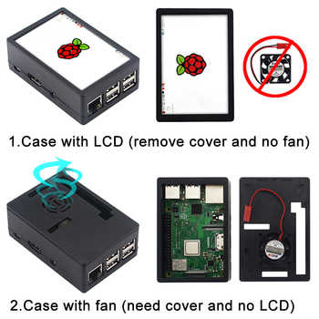Raspberry Pi 3 Model B Plus Kit + Power Supply Adapter + ABS Case + Heatsinks + 3.5 inch Touch Screen LCD for Raspberry Pi 3B +