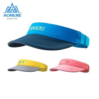 AONIJIE dzieci osłona przeciwsłoneczna kapelusz na lato Outdoor regulowana czapka sportowa szybkoschnący oddychający na Camping piesze wycieczki Trail Running tanie i dobre opinie CN (pochodzenie) Chłopcy Pasuje prawda na wymiar weź swój normalny rozmiar E4606 Szybkie suche NYLON Blue Yellow Pink