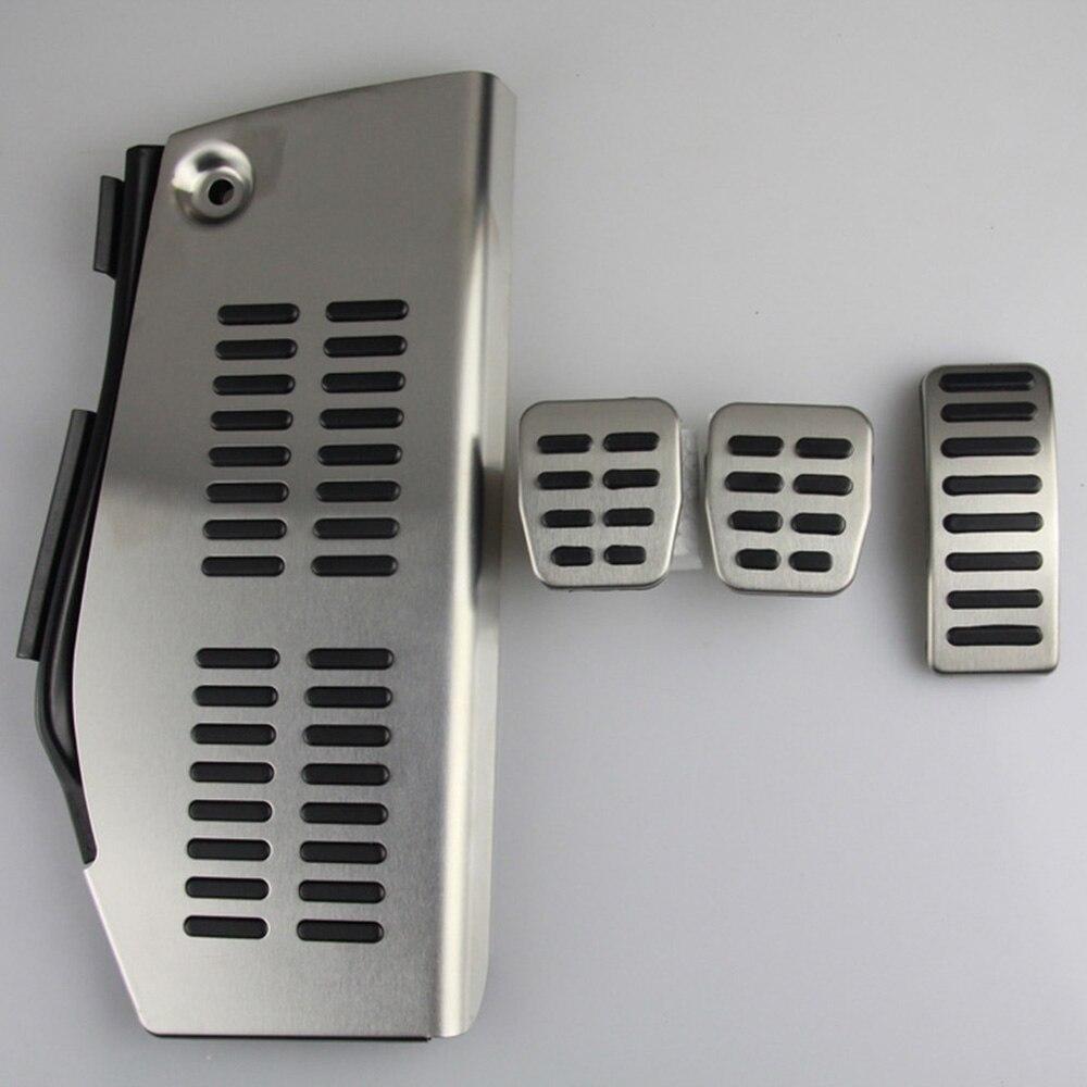 LHD Pedaal Voor Volkswagen Polo vw Golf 4 Bora Beetle RSi GTI R32 voor Audi A3 SEAT Leon 1M toledo 1L Rvs Pad Voetsteun