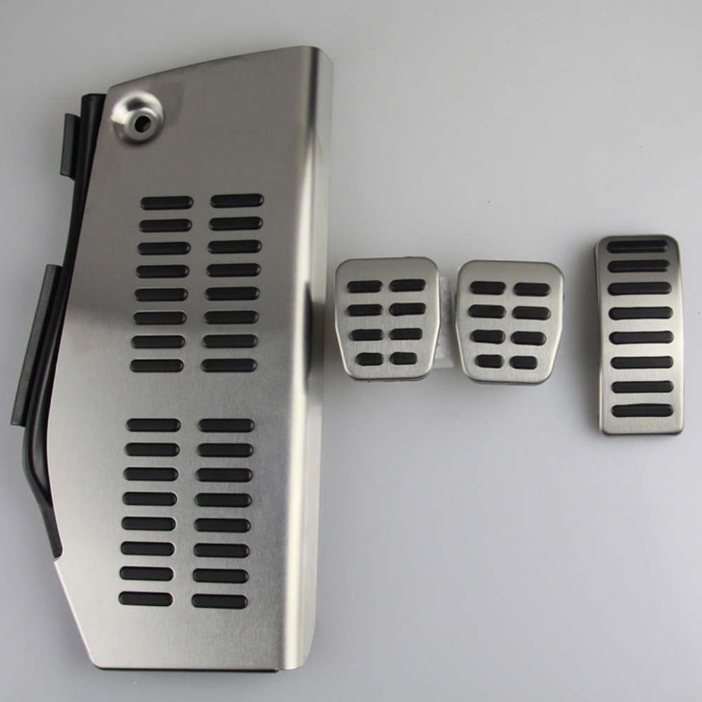 LHD <font><b>Pedal</b></font> For Volkswagen Polo vw Golf 4 Bora Beetle RSi GTI R32 for <font><b>Audi</b></font> <font><b>A3</b></font> SEAT Leon 1M Toledo 1L Stainless Steel Pad Foot Rest image