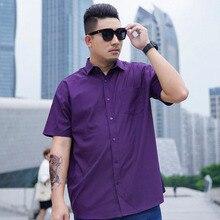 Formal Shirt Short-Sleeve 12XL Big-Size 14XL Dress Business Large Cotton Summer 8XL 9XL