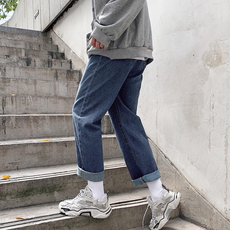 Spring And Summer New Style Wide-Leg Jeans Men Korean-style Pendant Sense Washing Casual Fashion Popular Brand Flow Versatile St