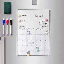 Sharkbang A3 42CM Magnetic Daily&Weekly&Monthly Planner Whiteboard Fridge Magnet Flexible To Do List Refrigerator Bulletin Note