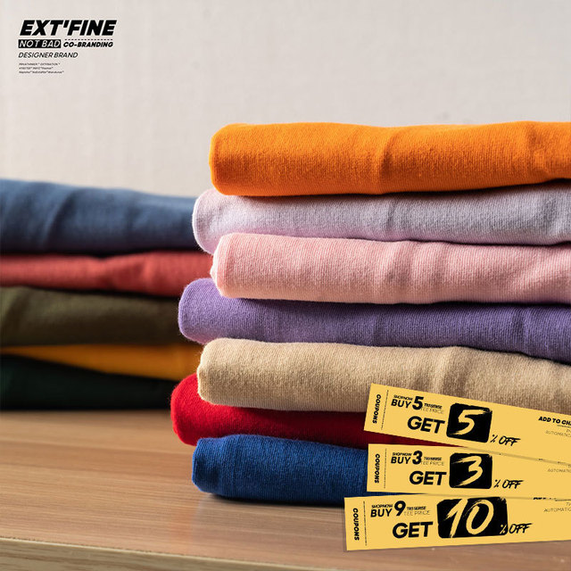 Extfine 100% Combed Cotton Short Sleeve T-shirt Men 2021 Summer Casual Tshirt Women Basic Harajuku Soft T Shirt Tops Tee 3