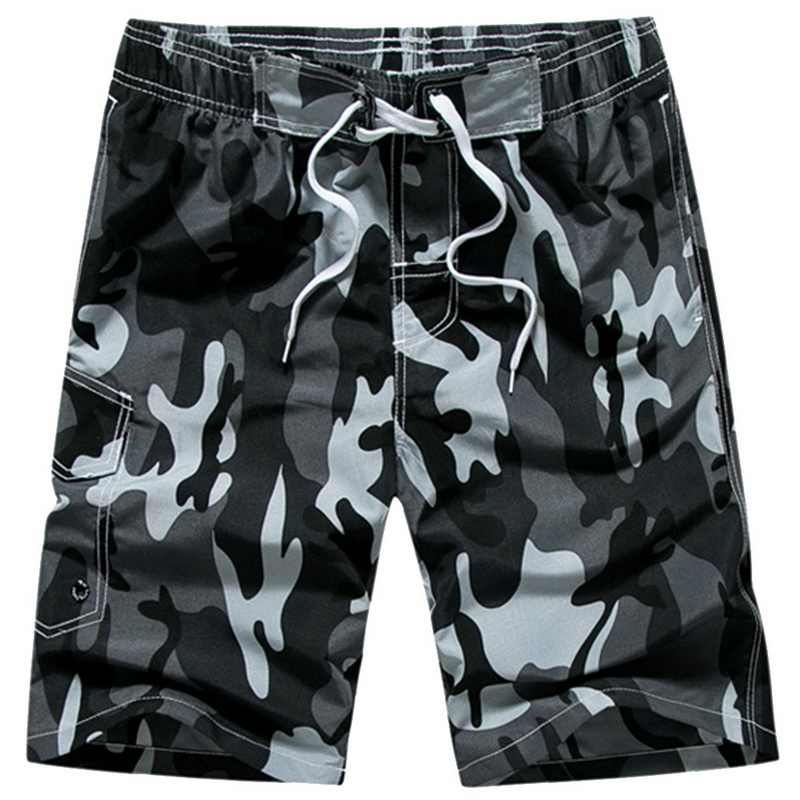 New 2020 Summer Men Beach Shorts Loose Large Size Swimwear Casual Quick Dry Water Sport Swimming Surfing Shorts Camouflage Style