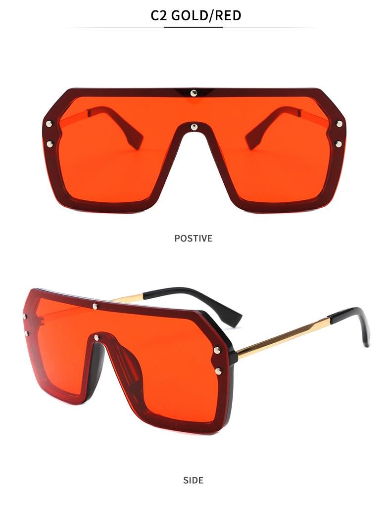 Luxury Brand Women's Sunglasses 2021 Trend One-Piece Lens Rimless Sunglass Female Designer Retro Sun Glasses For Women Gradient (8)