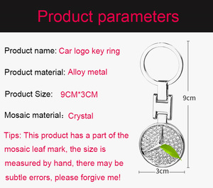 Image 4 - 18 auto Sleutelhanger Aristocratische Hanger dubbelzijdig Mozaïek Crystal Shiny Sleutelhanger Creatieve Logo Sleutelhanger Groothandel