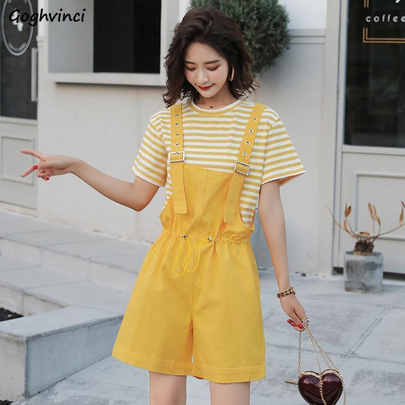 Rompers Women Solid Simple All Match Plus Size Womens Hot Sale Kawaii Playsuits Students Korean Style Loose Harajuku Casual Soft
