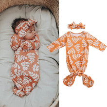 Sleeping-Bag Long-Sleeve Newborn Headband Spring Full Full-Body-Clothing Adjustable Autumn