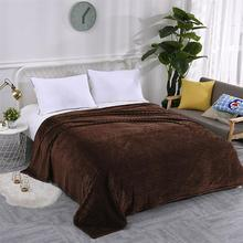 150*200CM Winter Solid Color Flannel Warm Blanket Thickened Yoga  Sofa Cover Sheets Easy Wash Faux Fur Blankets