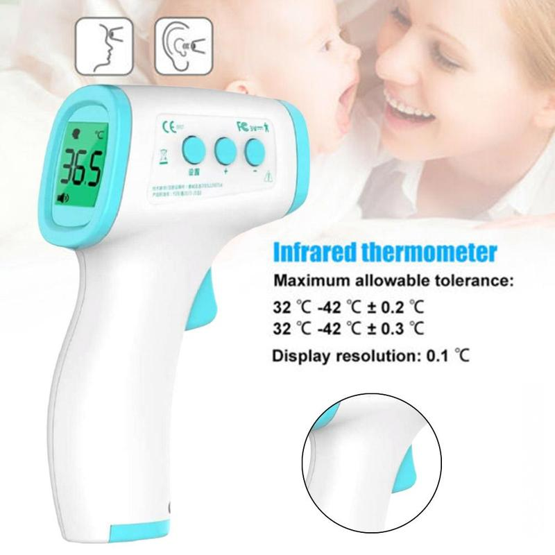 IR Infrared Digital Non-Contact Forehead Thermometer Baby Adult Ear Temperature