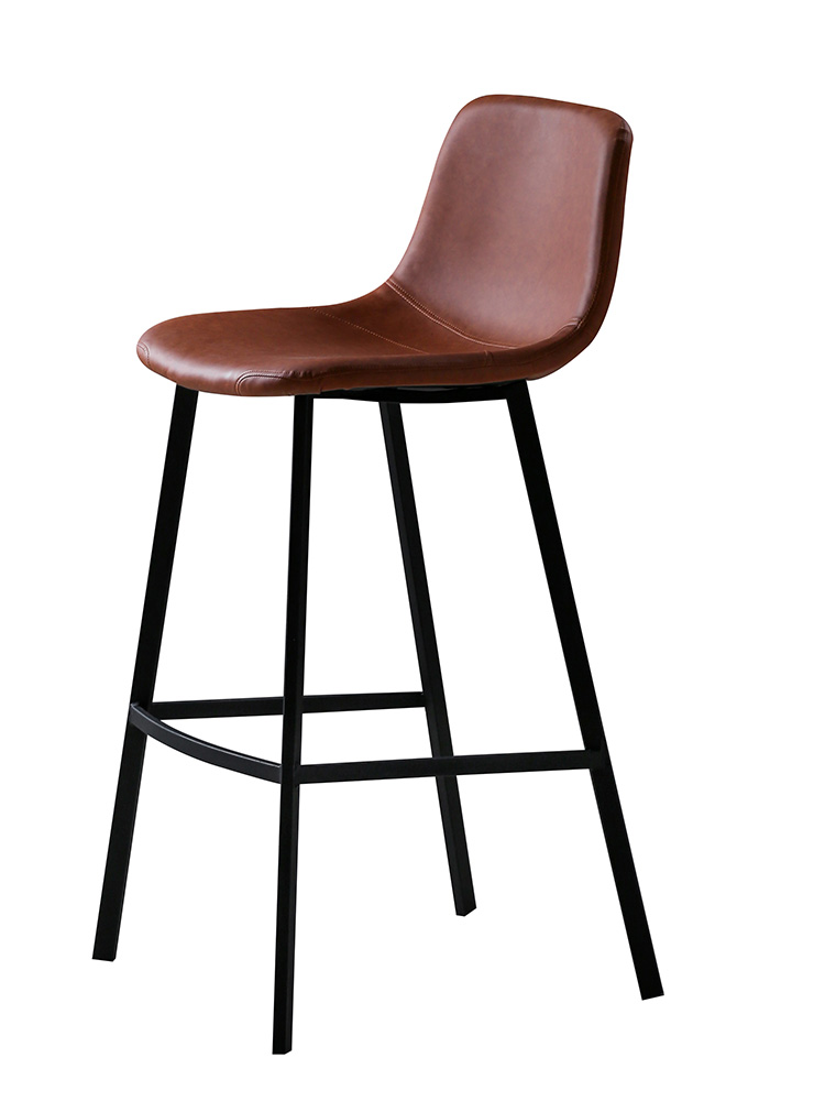 Nordic Bar Chair Simple Industrial Style Retro Bar Stool Iron Bar Chair Bar High Chair Household High Stool