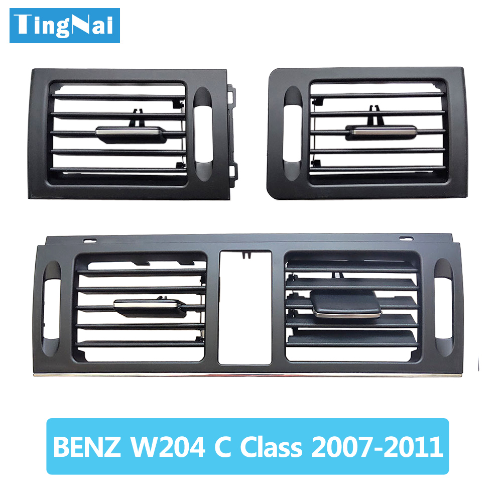 LHD Dashborad Fresh Air Conditioner AC Vent <font><b>Grille</b></font> Cover For Mercedes <font><b>Benz</b></font> <font><b>W204</b></font> C Class 180 200 220 230 260 300 350 2007-2011 image