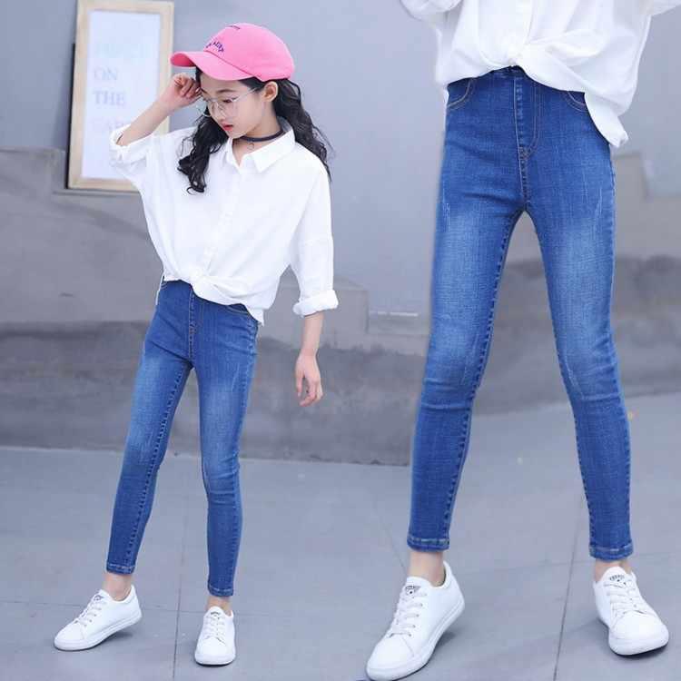 Pantalones Vaqueros A La Moda Para Ninas Adolescentes 10 Y 12 Anos Para Primavera Y Otono 2020 Pantalones Vaqueros Aliexpress
