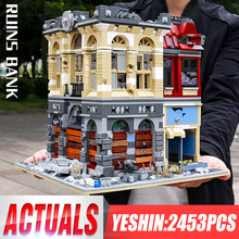 Yeshin K126 bize son serisi Ruin şehir bankası modeli uyumlu oyuncaklar yapı taşları tuğla çocuklar noel hediyesi