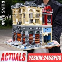 Yeshin K126 последняя серия США модель банка руин город совместимые игрушки строительные блоки кирпичи для детей Рождественский подарок