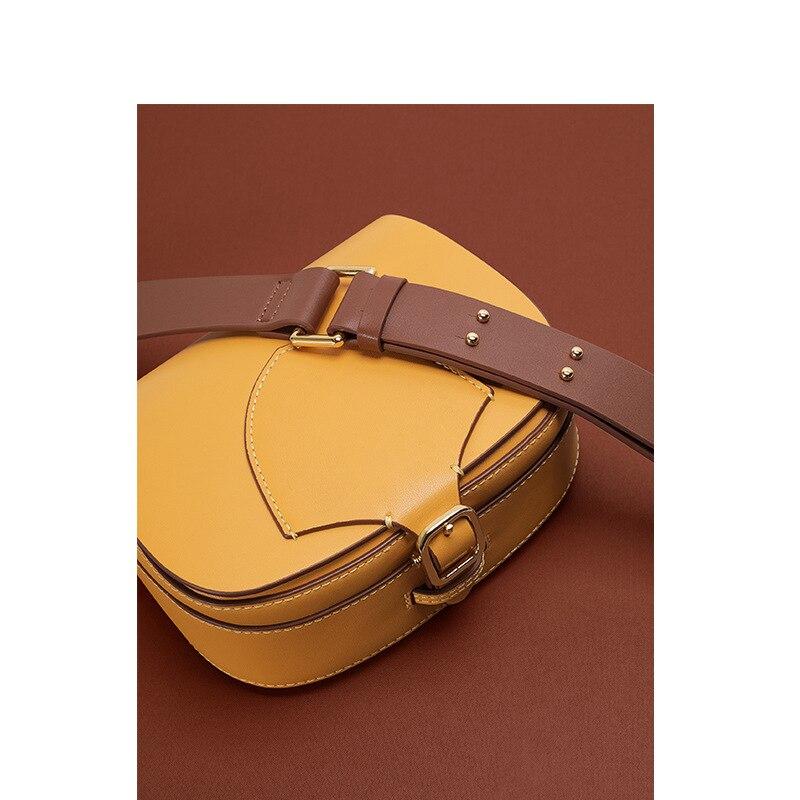 New Wide-shoulder Strap Sloping Saddle Bag Stylish  Half-round Bag Shoulder Women's Bag Purses and Handbags