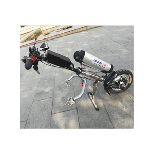 Image 5 - 48v 500w Sports Model Wheelchair Electric Handcycle Folding Wheelchair Attachment Hand Cycle Bike WheelChair Conversion Kits