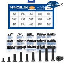 450pcs countersunk flat head phillips mini screw set m2 m2.5 m3 carbon steel computer notebook laptop screws kit