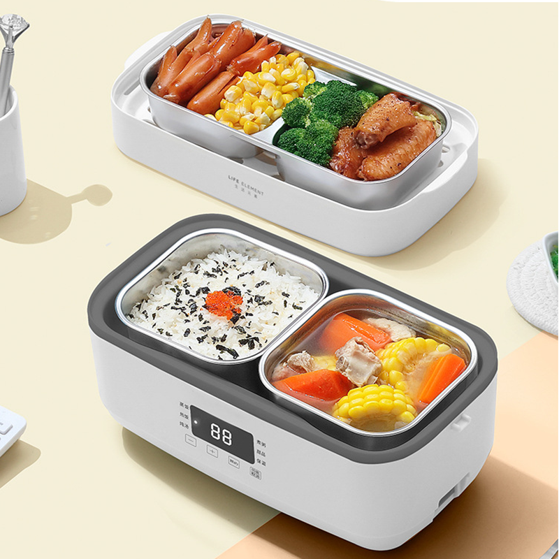 220V Elettrico Hot Pot Fornello di Riso Mini Portatile 2 Strato Lunch Box Riscaldamento Multi Cooker Con 4 Cilindro Interno EU/AU/UK/US Spina